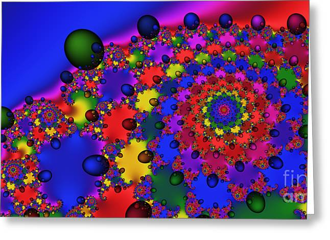 2x1 Abstract 353 Greeting Card by Rolf Bertram