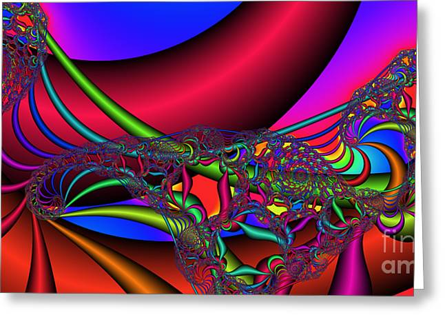 2x1 Abstract 360 Greeting Card by Rolf Bertram