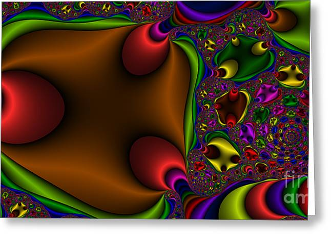 2x1 Abstract 363 Greeting Card by Rolf Bertram