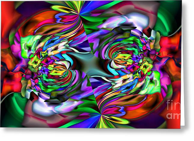 2x1 Abstract 407 Greeting Card by Rolf Bertram