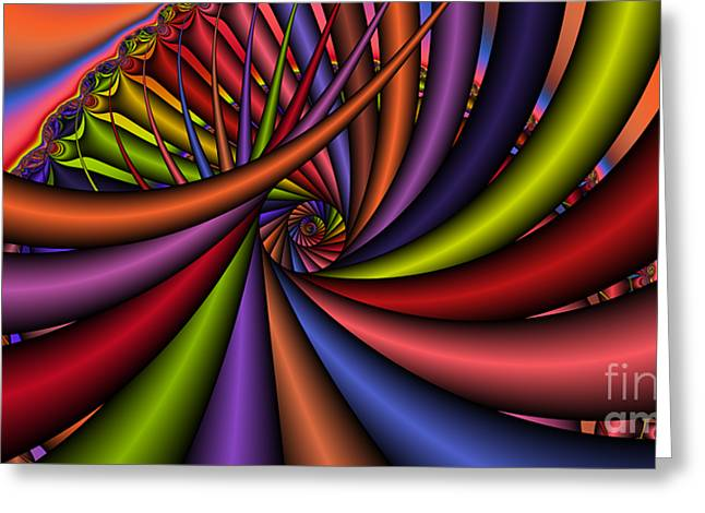 2x1 Abstract 430 Greeting Card by Rolf Bertram