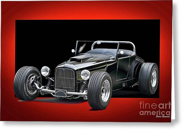 1927 Ford 'track T' Roadster Greeting Card