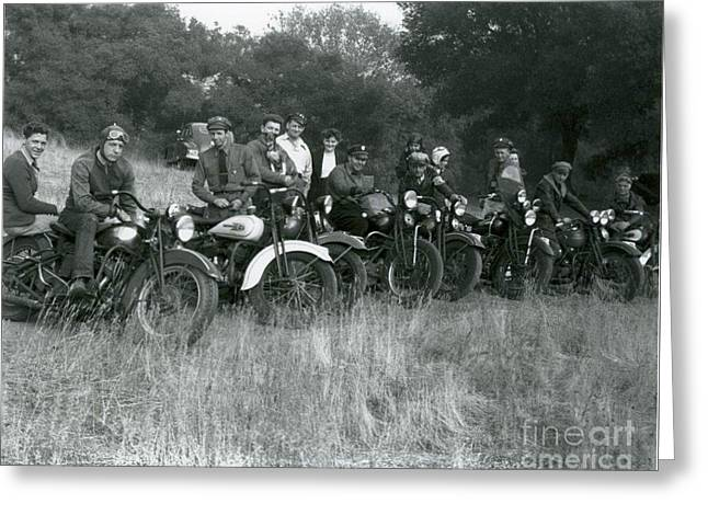 1941 Motorcycle Vintage Series Greeting Card