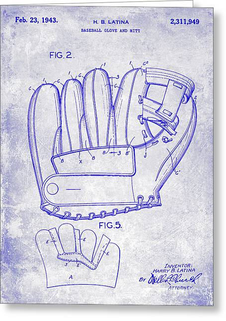 1943 Baseball Glove Patent Greeting Card