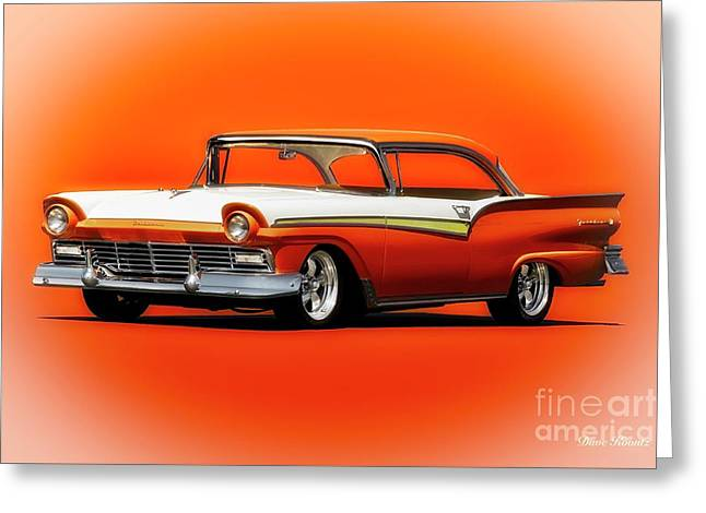 1957 Ford Fairlane 500 Greeting Card by Dave Koontz