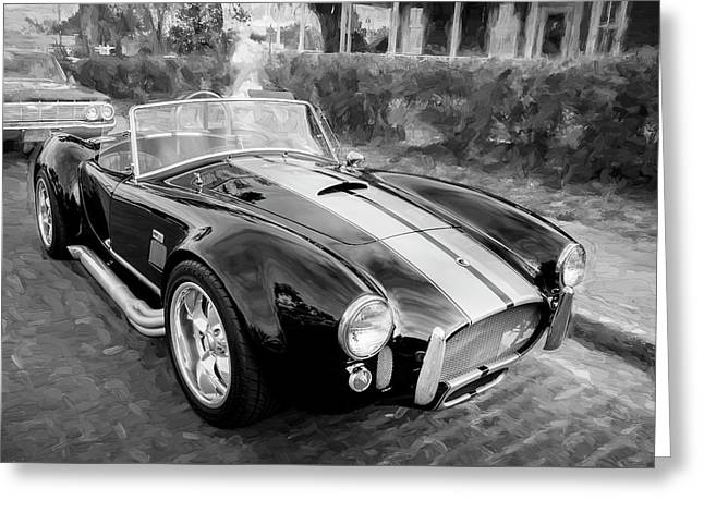 1965 Ford Ac Cobra Painted Bw   Greeting Card by Rich Franco