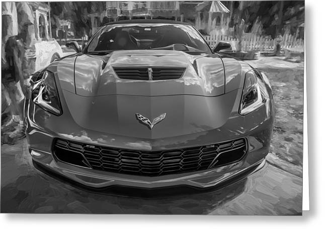 2015 Chevrolet Corvette Zo6 Painted  Greeting Card by Rich Franco