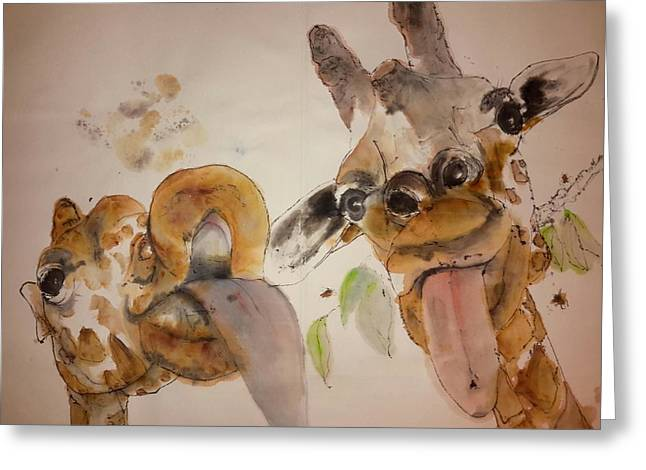 A Camel Story Album Greeting Card by Debbi Saccomanno Chan