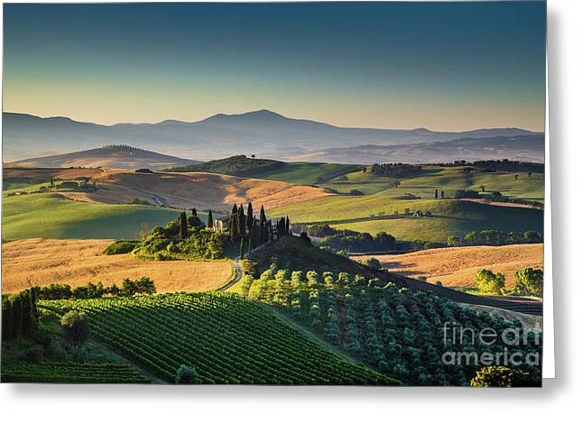 A Morning In Tuscany Greeting Card