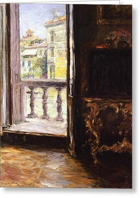 A Venetian Balcony Greeting Card