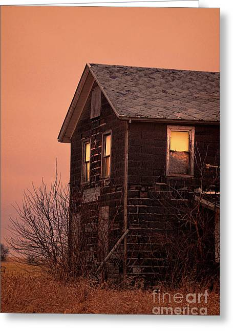 Greeting Card featuring the photograph Abandoned House by Jill Battaglia