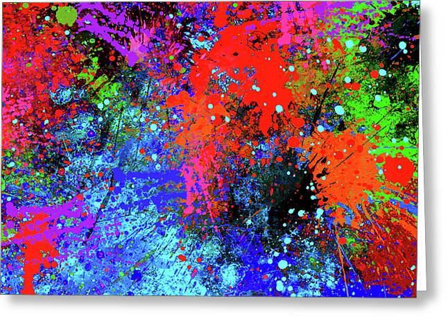 Abstract Composition Greeting Card by Samiran Sarkar