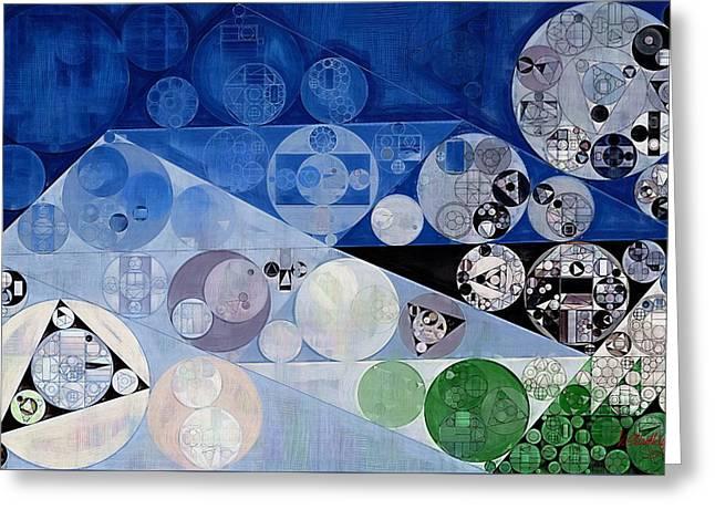 Abstract Painting - Bermuda Grey Greeting Card by Vitaliy Gladkiy