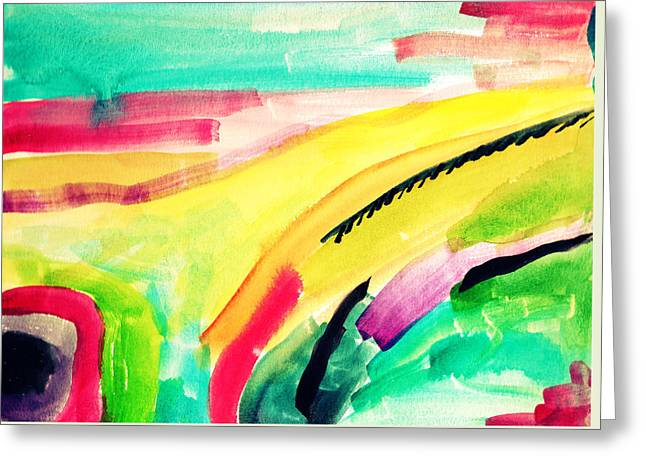 Abstract Watercolor Painitng Greeting Card by My Art