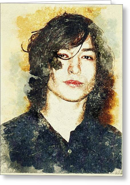 Actor And Musician Ezra Miller Greeting Card