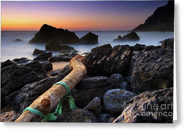 Adraga Beach Greeting Card by Carlos Caetano