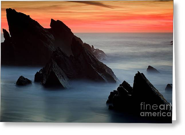 Adraga Beach In Sintra Natural Park Greeting Card by Andre Goncalves