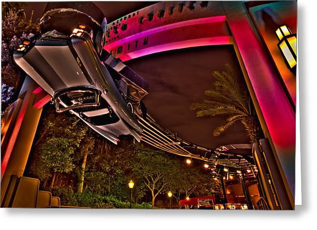 Aerosmith Rock 'n' Roller Coaster Hdr Greeting Card