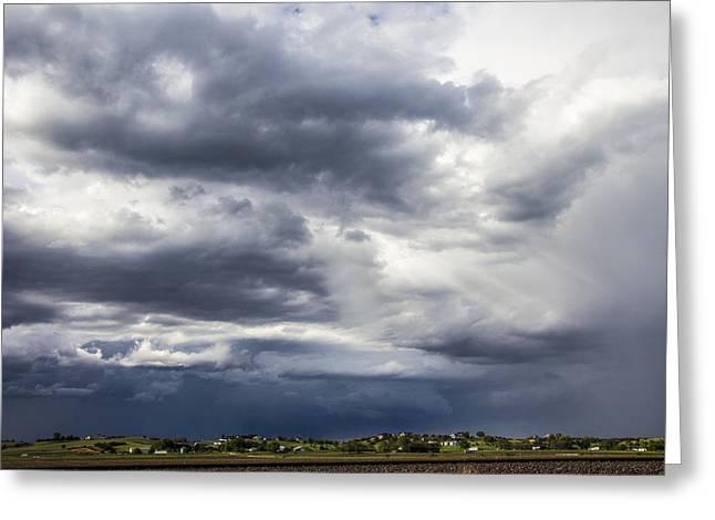 Afternoon Nebraska Thunderstorm Greeting Card