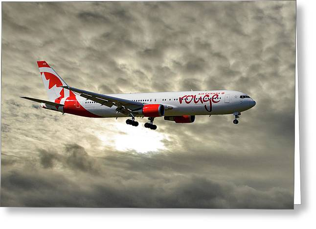 Air Canada Rouge Boeing 767-35h Greeting Card