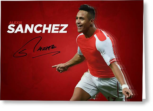 Alexis Sanchez Greeting Card