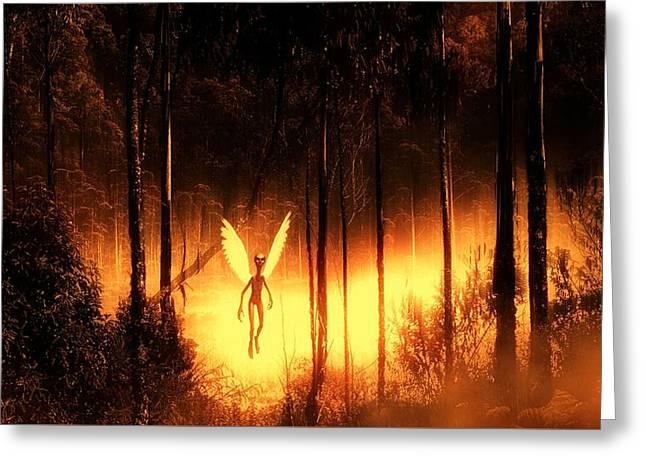 Alien Angel By Raphael Terra Greeting Card