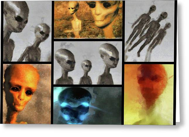 Aliens By Raphael Terra Greeting Card by Raphael Terra