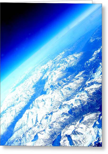Alpine From Sky Greeting Card