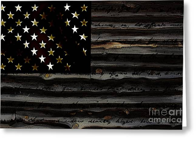 American Flag Greeting Card by Marvin Blaine