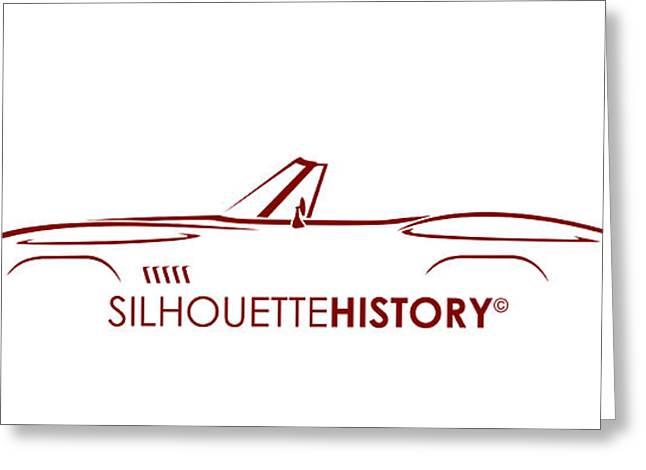 American Sports Cabrio Silhouettehistory Greeting Card by Gabor Vida