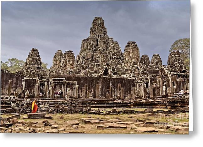 Greeting Card featuring the photograph Angkor Wat by Juergen Held