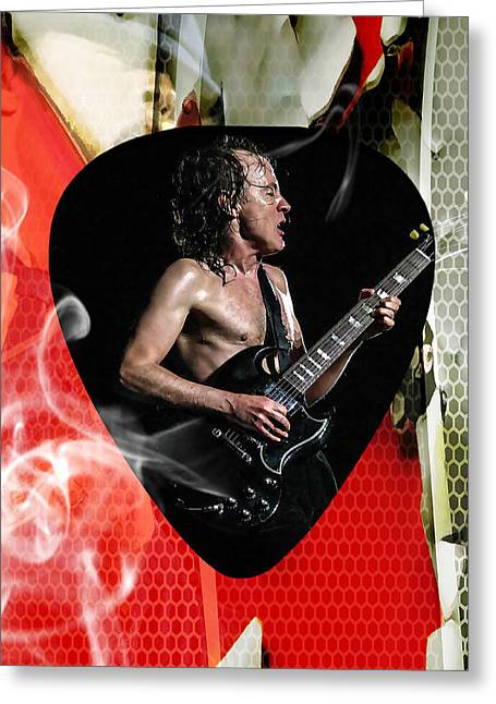 Angus Young Ac Dc Greeting Card
