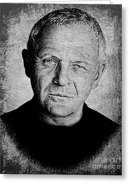 Anthony Hopkins Greeting Card by Andrew Read