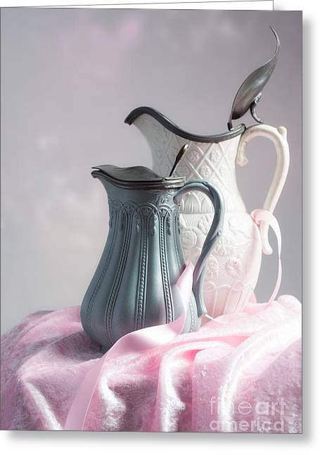 Antique Jugs Greeting Card by Amanda Elwell