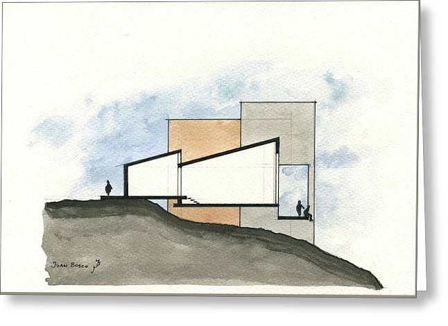 Architectural Drawing Greeting Card