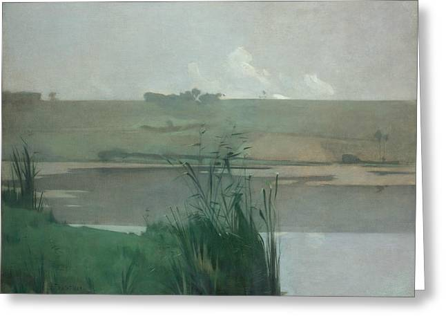 Arques-la-bataille Greeting Card by John Henry Twachtman