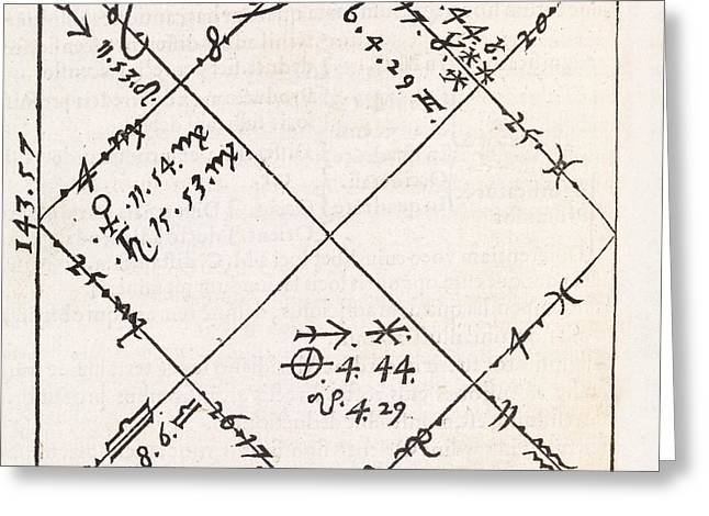 Astrology Chart, 16th Century Greeting Card