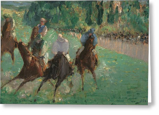 At The Races Greeting Card by Edouard Manet