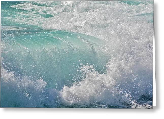 Atlantic Wave Greeting Card by Werner Lehmann