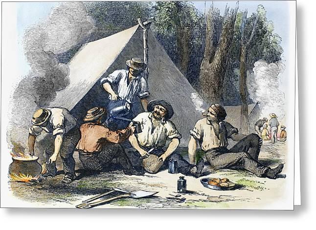 Australian Gold Rush, 1851 Greeting Card