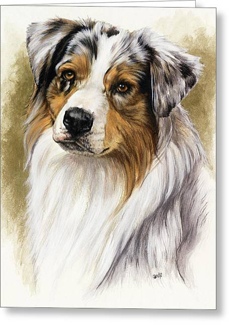 Australian Shepherd Greeting Card by Barbara Keith