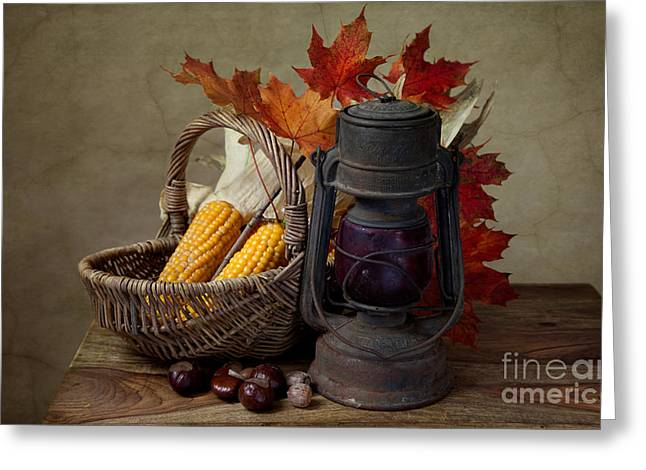Autumn Greeting Card by Nailia Schwarz