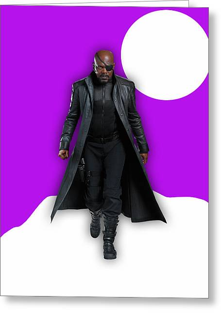 Avengers Nick Fury Collection Greeting Card