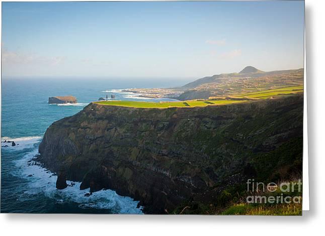 Azores Coastal Landscape Greeting Card by Gaspar Avila