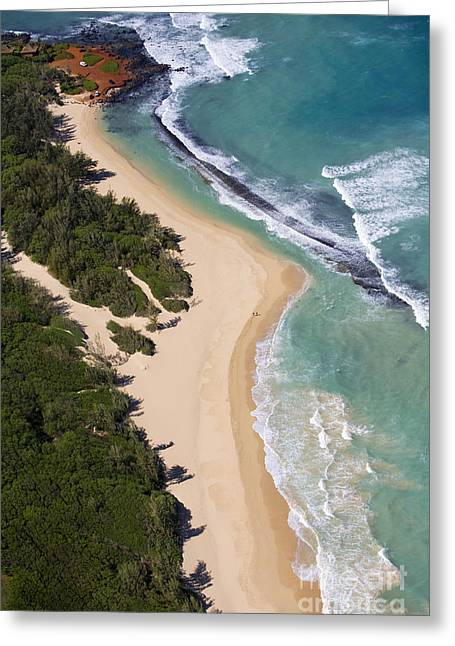Baldwin Beach Greeting Card by Ron Dahlquist - Printscapes