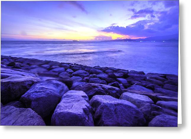 Bali Sunset Greeting Card by Jijo George
