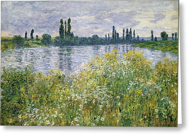 Banks Of The Seine, Vetheuil Greeting Card