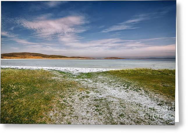 Barra Airport Greeting Card by Nichola Denny