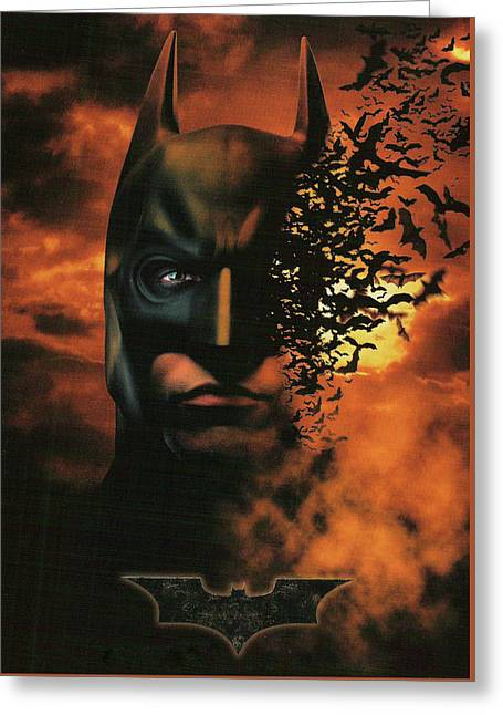 Batman Begins 2005 Greeting Card by Unknown