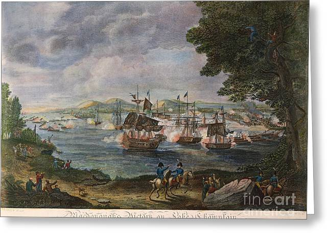 Champlain Greeting Cards - Battle Of Lake Champlain Greeting Card by Granger